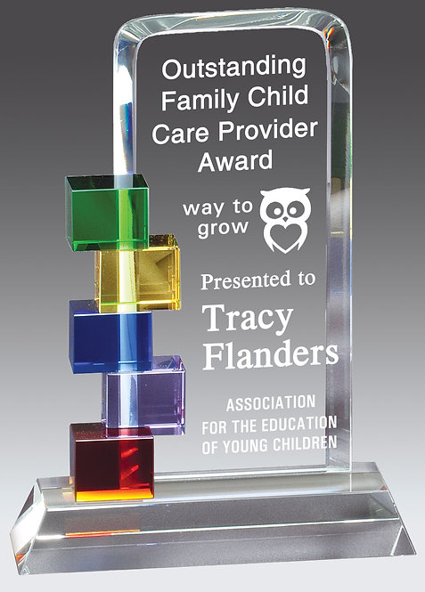 Colorful Rectangular Glass Award