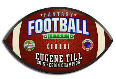 Custom Color Football Plaque