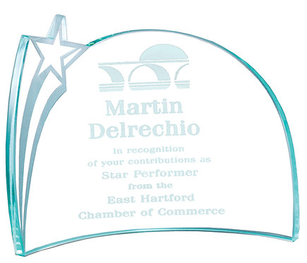 Shooting Star Award Curved Glass