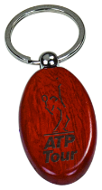 Wooden Oval Key Ring