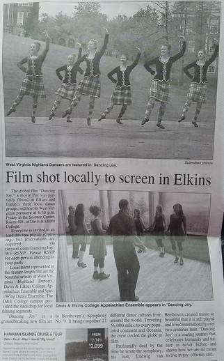 Dancing Joy in The Inter-Mountain West Virigina Newspaper
