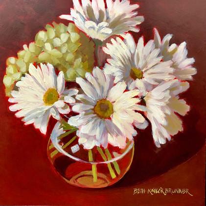 Daisies and Hydrangea_1