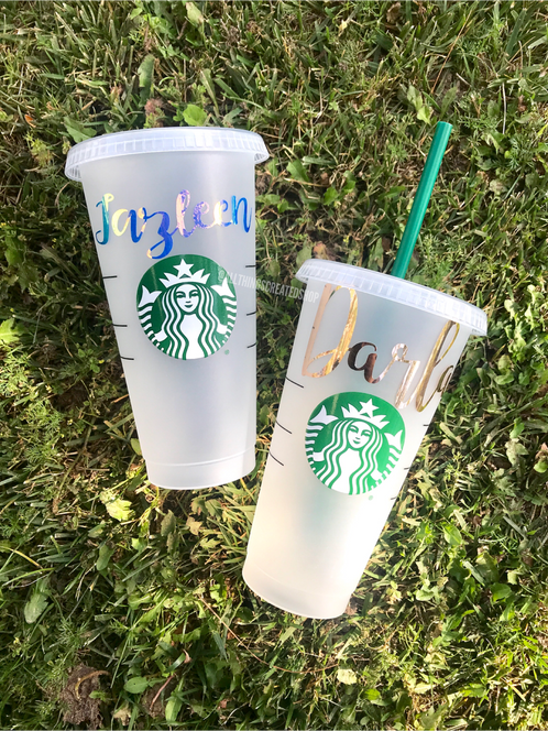 Reusable Starbucks Cup Personalized
