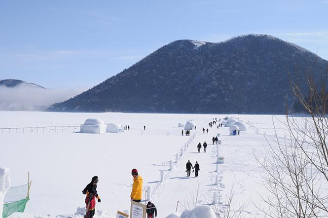 Shikaribetsu-ko Kotan, Desa Es di Hokkaido, Jepang.