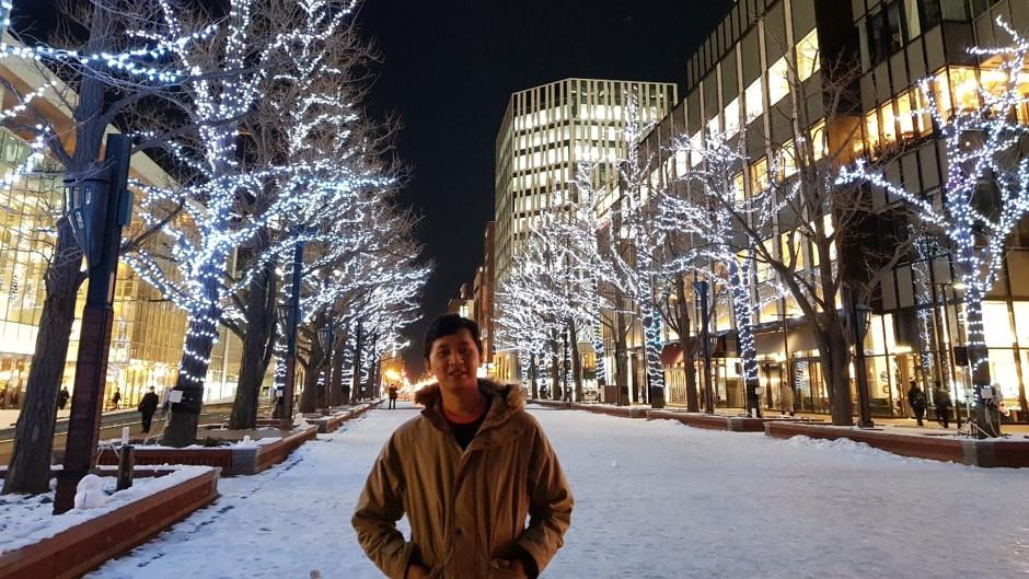 Suasana Jalan Sapporo White Illumination