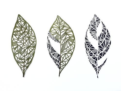 Gardenia Leaves: A Triptych