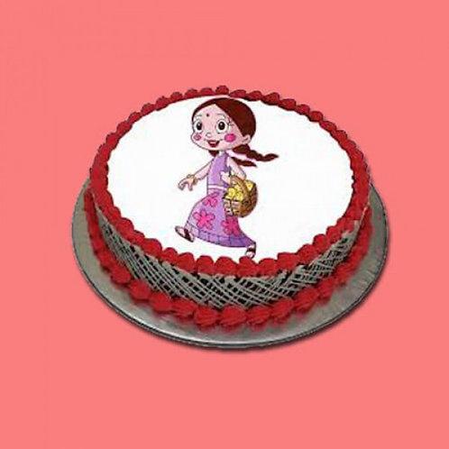 Choco Strawberry Photo Cake