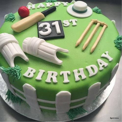 Legendary Cricketer Cake