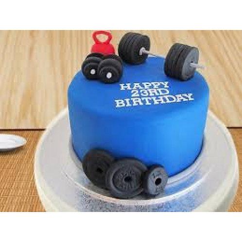 Minimal Gym Freak Cake