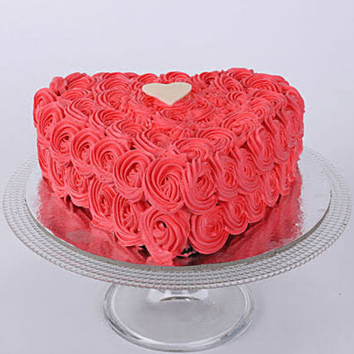 Red Love Rose Cake