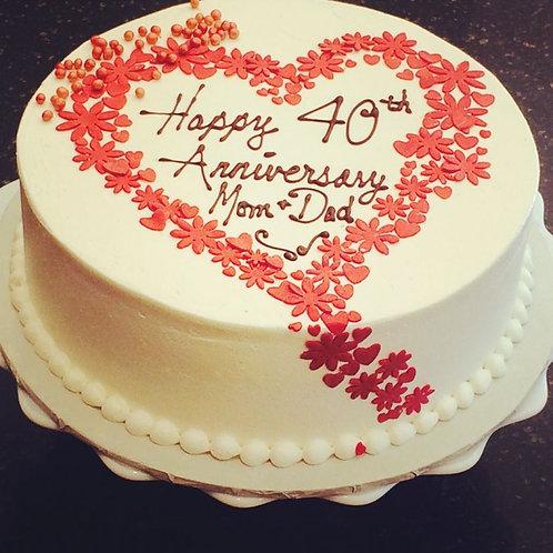 With Love Anniversary Cake