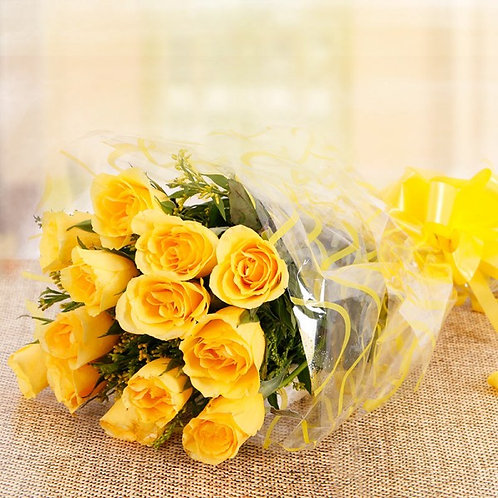 Peaceful Yellow Rose Bouquet