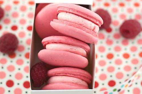 Rose & Raspberry Macarons