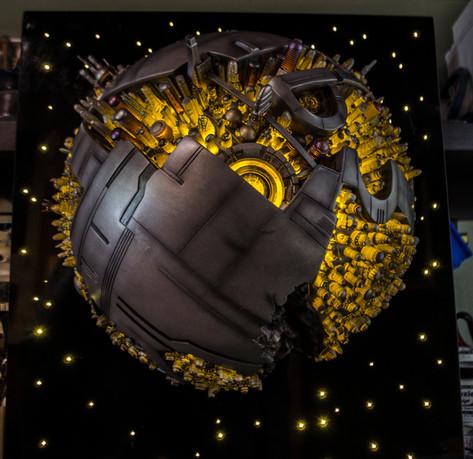 Hot Steel Planet Sculpture