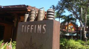 Tiffins for restaurant sign.