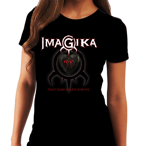 "Imagika: Women's ""Only Dark Hearts Survive""Shirt"