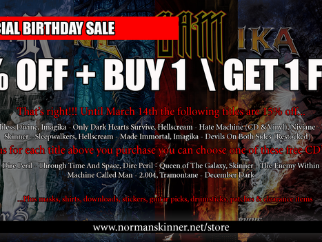 Birthday Special - 15% Off + Free CD