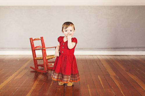 Saree Dress - Red