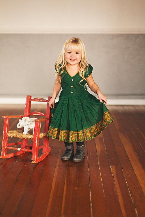 Saree Dress - Green