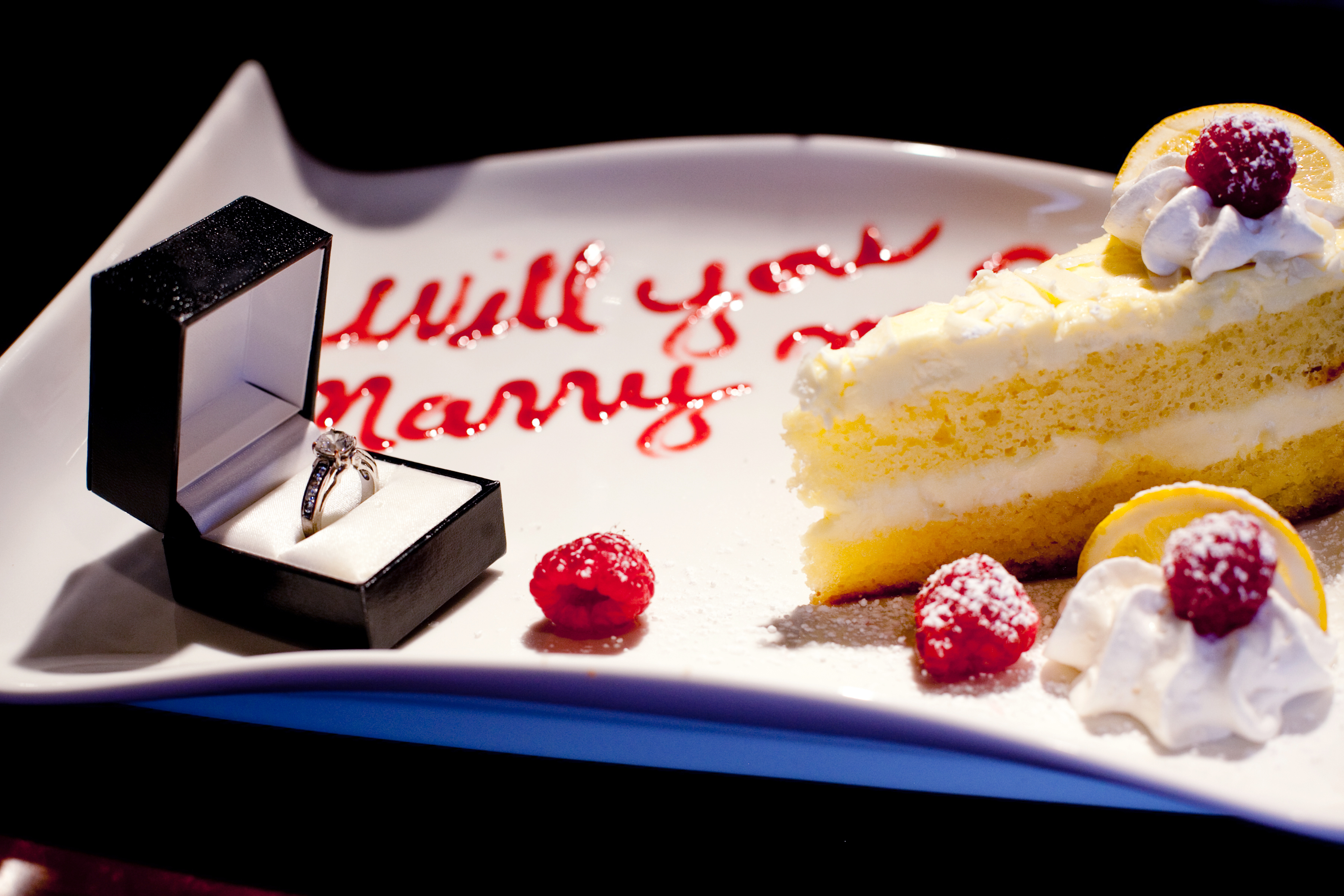 Lemon Cake for a Proposal