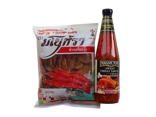 Uncooked Shrimp Chips Set