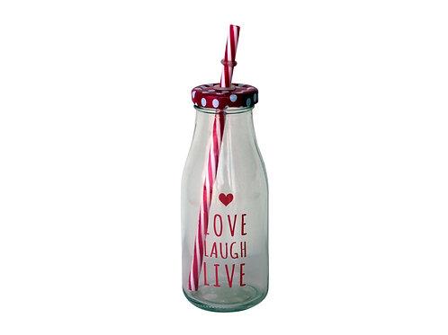 Drink Jar 280ml - Love Laugh Live 22004347
