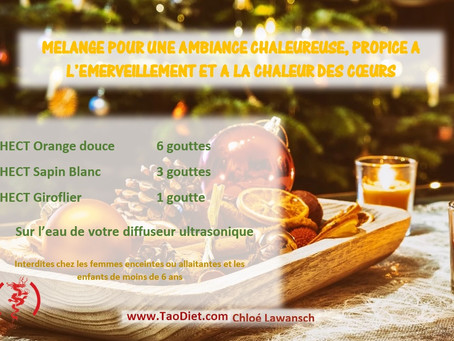 Mélange d'huiles essentielles pour Noël