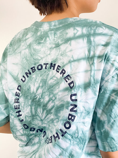'UNBOTHERED' TIE DYE TEE