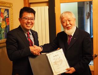 松本顧問が座間味村観光大使に就任しました