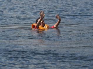 今年の安全講習会は「落水しない方法」8月24日