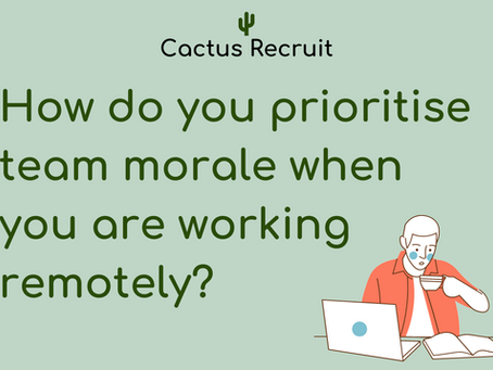 Team Morale With Semi-Remote Working