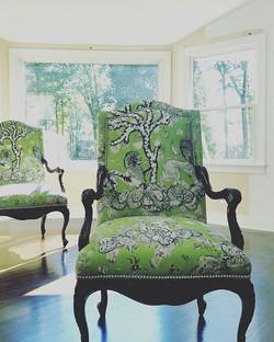#twinsies #reupholstery #ginosupholstery #jimthompson #workinprogress #residentialdesign #residentia