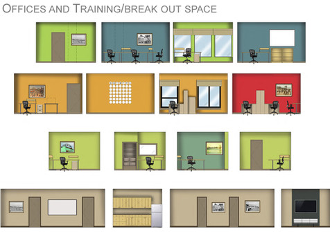 Office Color and Layout Concept