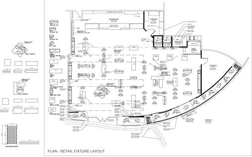 Retail Space Plan & Custom Fixture Design