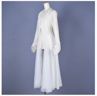 See-through gauze jacket:h.NAOTO