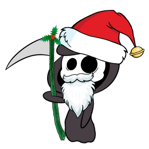 I Need a Deadline Xmas Grim reaper
