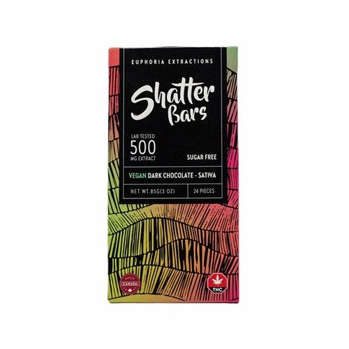 DARK CHOCOLATE SHATTER BAR (SATIVA / 500MG)