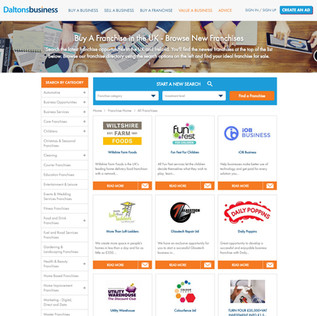 Franchise Listings Page Example