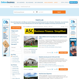 Businesses for Sale Listings Page