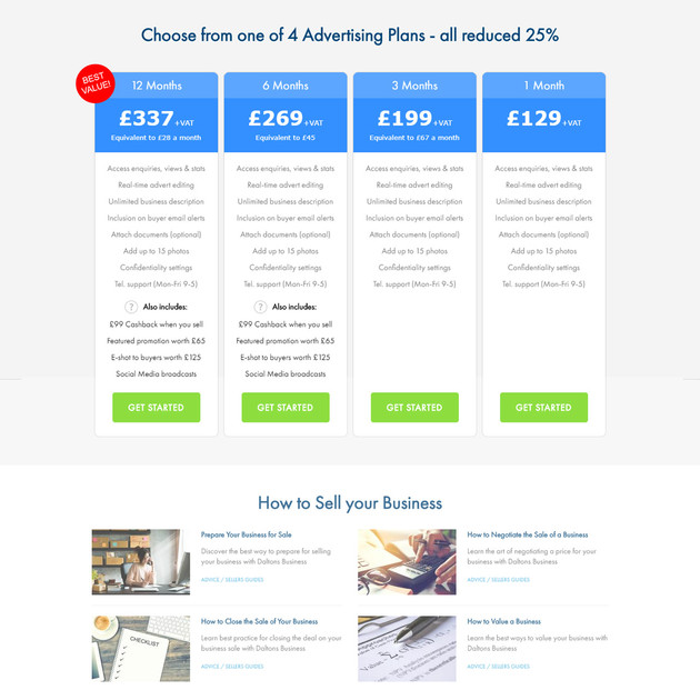Choose from 4 Advertising Packages