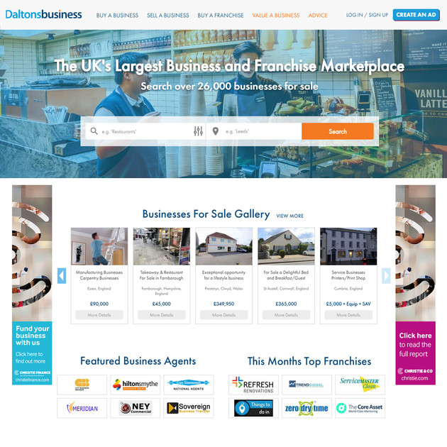 Daltons Business Homepage