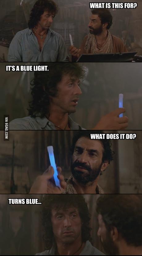rambo blue light
