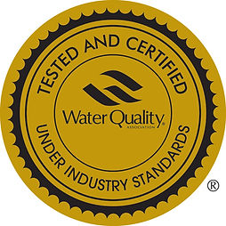 Water Quality certification stamp - PearlAqua tested and certified for NSF lead-free industry standards
