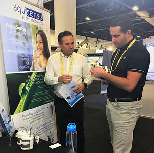 Astrialian watr technology tradeshow fetures UV disinfection