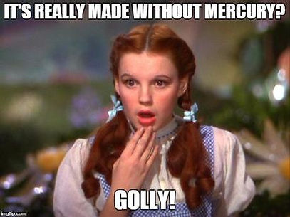 Wizard of Oz meme - dorothy shocked at a UV system without mercury