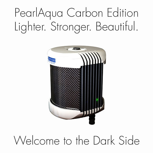 PearlAqua with Carbon Fiber body - Lighter. Stronger. Beautiful. Welcome to the Dark Side