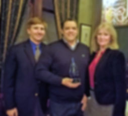 Oliver with Confluence leaders and Entrepreneur award