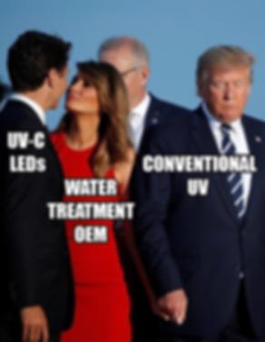 uv-c leds vs. conventional Uv disinfection meme