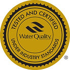 Water Quality Association Certificate - Tested and Certified Under Industry Standards