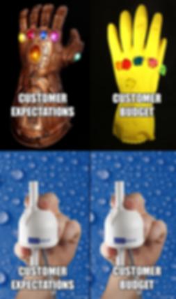 UV LED expectations meme